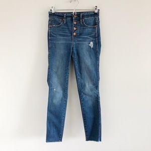"Madewell 10"" High-Rise Skinny Jean Drop-Hem 24"